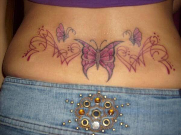 lower back butterfly tattoo designs tattoo designs for women. Black Bedroom Furniture Sets. Home Design Ideas