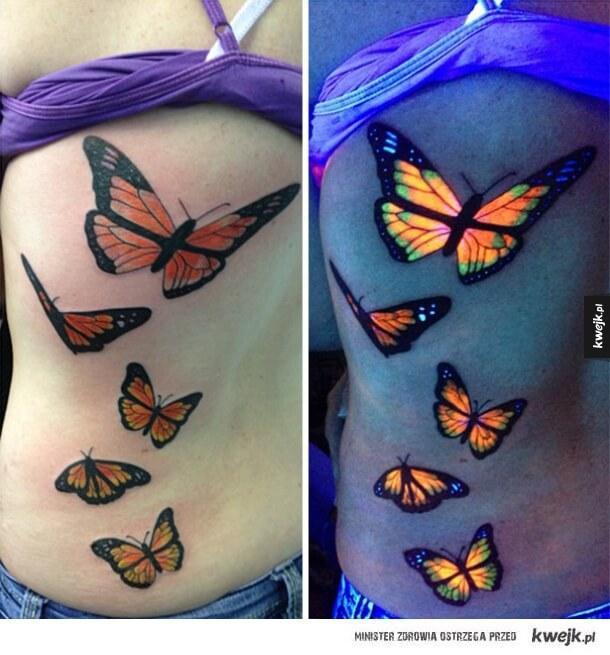 uv tattoos in daylight and under uv light tattoo designs for women. Black Bedroom Furniture Sets. Home Design Ideas